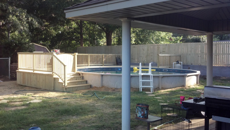 Custom Wooden Deck Thompson Builders