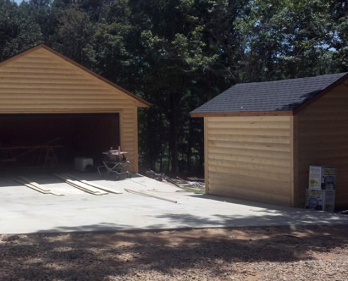 Detached garage and well house - custom home builder