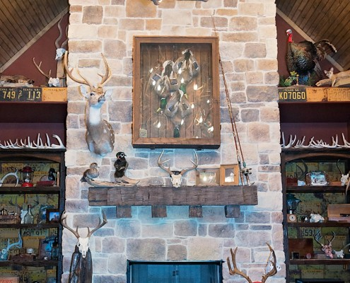 Fireplace focal point in Custom Home Build